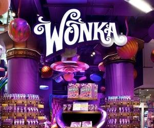 Candy Store, chocolate, and wonka image