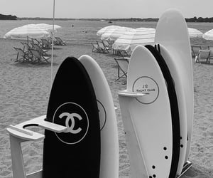 chanel, beach, and black image