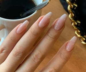 nails, manicure, and coffee image