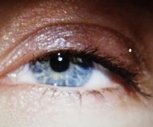 blue, eye, and yellow image