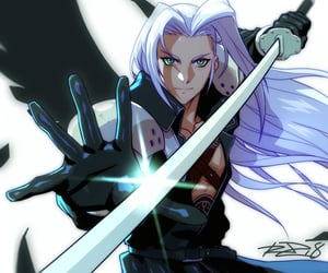 final fantasy 7 and Sephiroth image