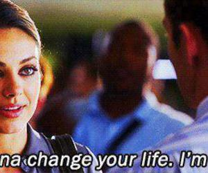 friends with benefits, Mila Kunis, and text image