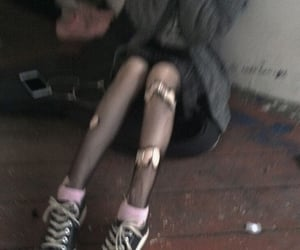goth, grunge, and ripped tights image