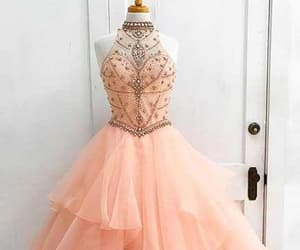 ball gown, beading, and ruffle image