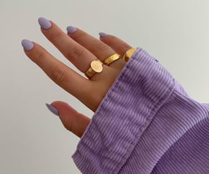 nails, purple, and fashion image