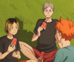 anime, gif, and karasuno image