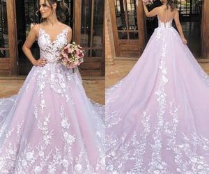 robe de mariée, pink wedding dresses, and ball gown wedding dresses image