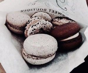 chocolate, dessert, and macaroons image