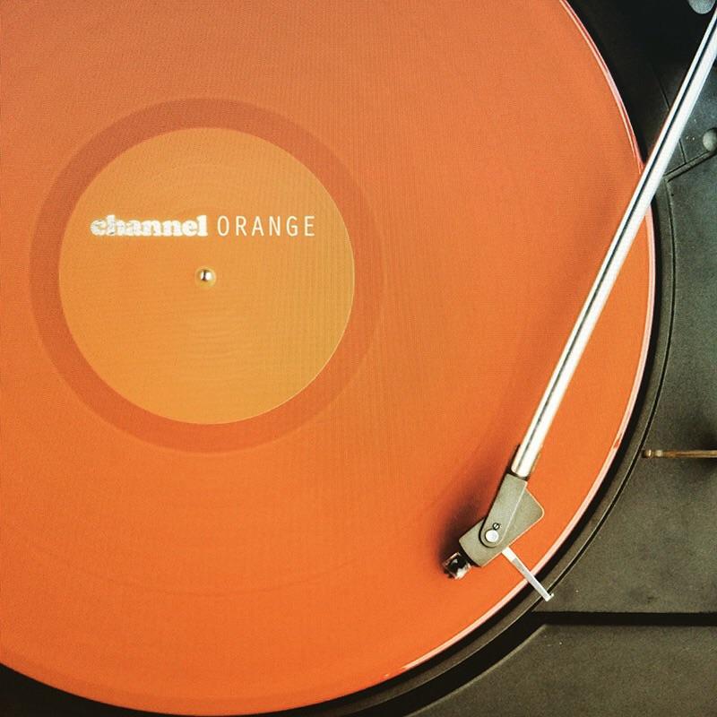 orange, record, and music image