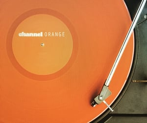orange, record, and music image