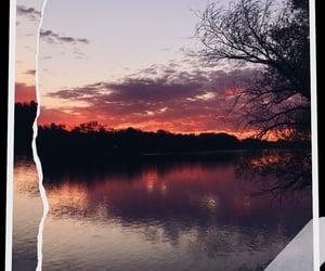 beautiful, lake, and pink image