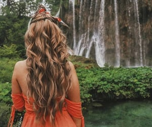 aesthetic, hair, and nature image
