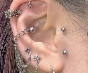 aesthetic, earrings, and Piercings image
