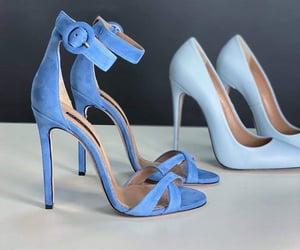 blue, fashion, and heels image