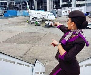 abu dhabi, airplane, and Dubai image