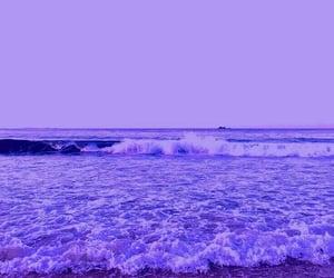 beach, ocean, and purple image