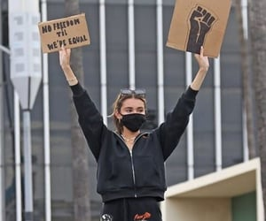 activist, madison beer, and blm image