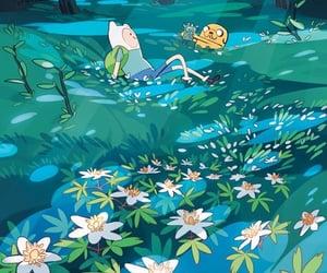 cartoon, finn, and nature image