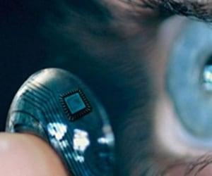camera, futuristic, and eye image