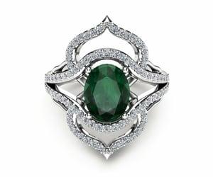 etsy, emeraldring, and fashion ring image