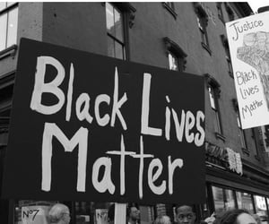 black and white, equality, and protest image