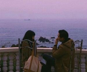 couple, laugh, and sea image
