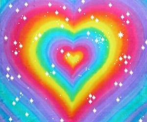 rainbow, aesthetic, and heart image