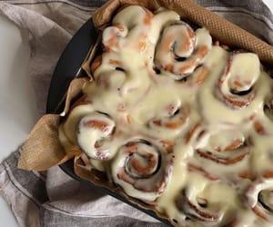 food, cinnamon rolls, and yummy image