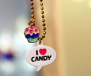 candy, cupcake, and necklace image