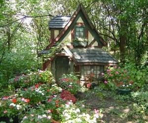 cottage, flowers, and cottagecore image