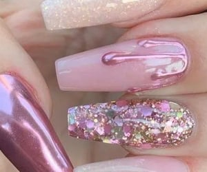 pink nails, nail ideas, and acrylic nail ideas image
