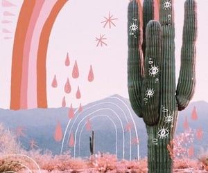 aesthetic, cactus, and summer image