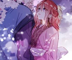 anime, art, and kiss image