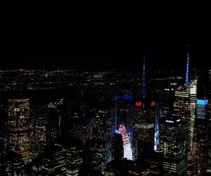 city, citylights, and lights image