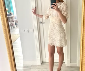 blogger, lace, and lace dress image
