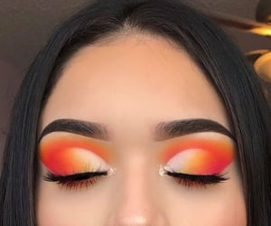 makeup, make, and orange image