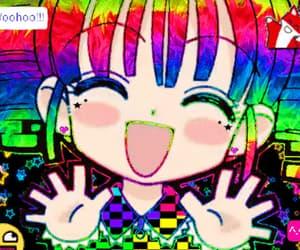 anime, rainbow, and emocore image