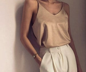 fashion, beige, and outfit image