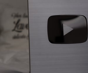 silver, youtube, and play button image