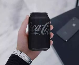 black, coca cola, and aesthetic image