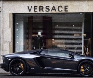 Lamborghini, Versace, and black image