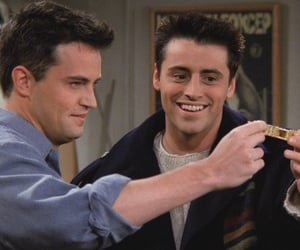 chandler bing, chandler and joey, and friends image