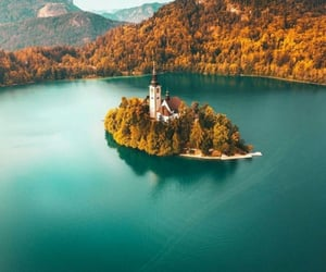 autumn, travel, and lake image