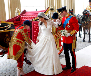 wedding, wedding dress, and prince william image