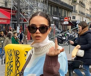 fashion, girls, and middle finger image
