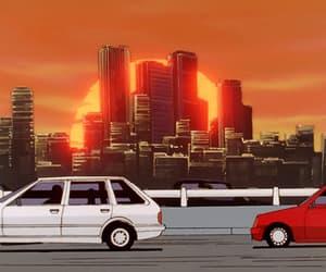 anime, cars, and retro image
