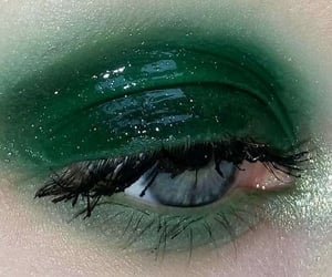 green, makeup, and eye image