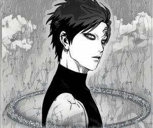 anime, black, and black and white image