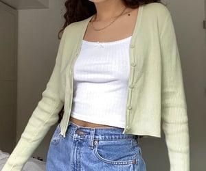 cardigan, cropped, and fashion image