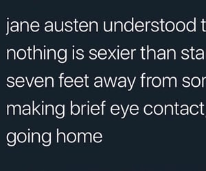 eye contact, fact, and jane austen image